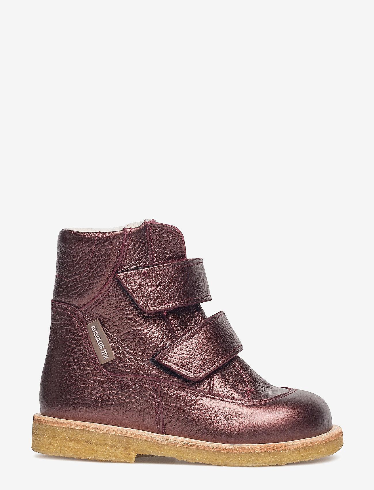 ANGULUS - Boots - flat - with velcro - stövlar & kängor - 1536 bordeaux shine - 1