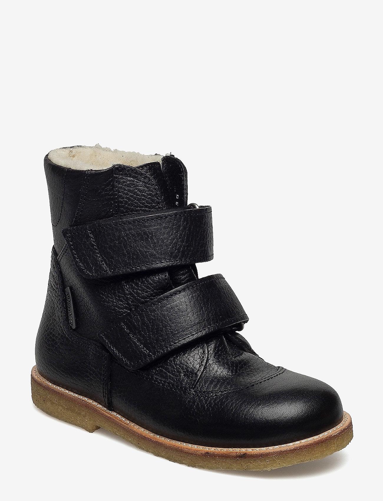 ANGULUS - Boots - flat - with velcro - vinterstövlar - 2504 black - 0