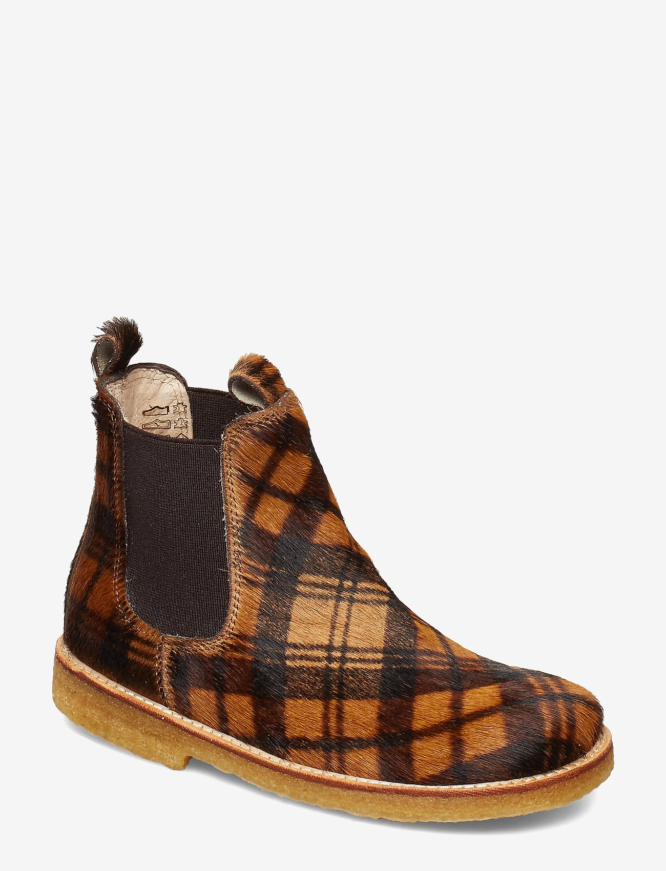 ANGULUS - Chelsea boot - støvler - 1105/002 checked pony/brown - 0