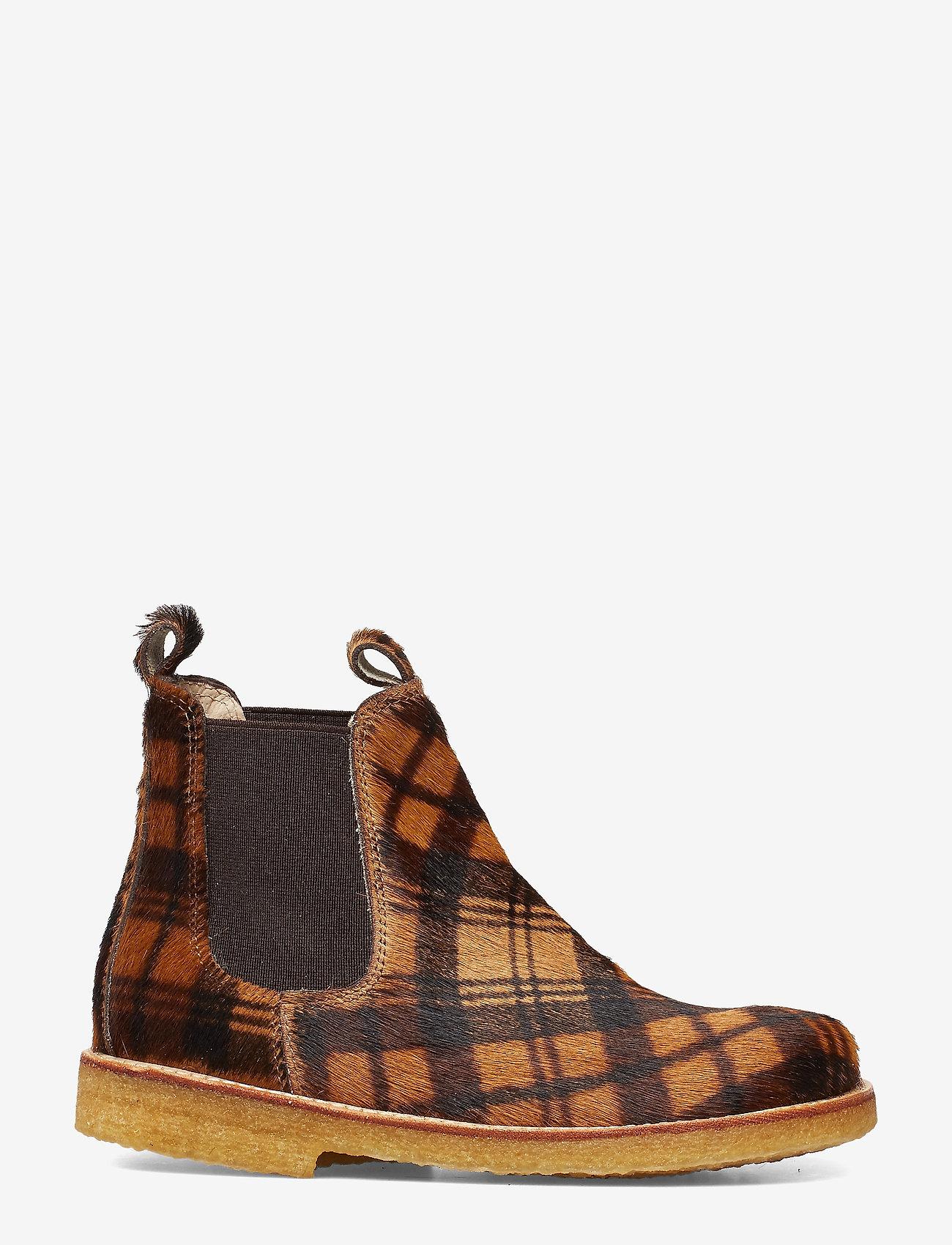 ANGULUS - Chelsea boot - støvler - 1105/002 checked pony/brown - 1