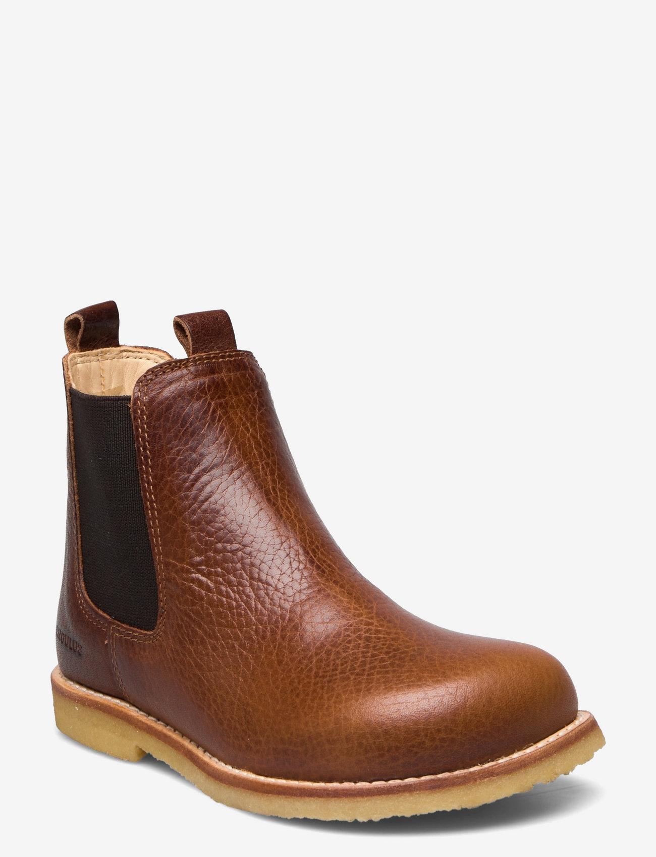 ANGULUS - Chelsea boot - støvler - 2509/002 medium brown/medium b - 0