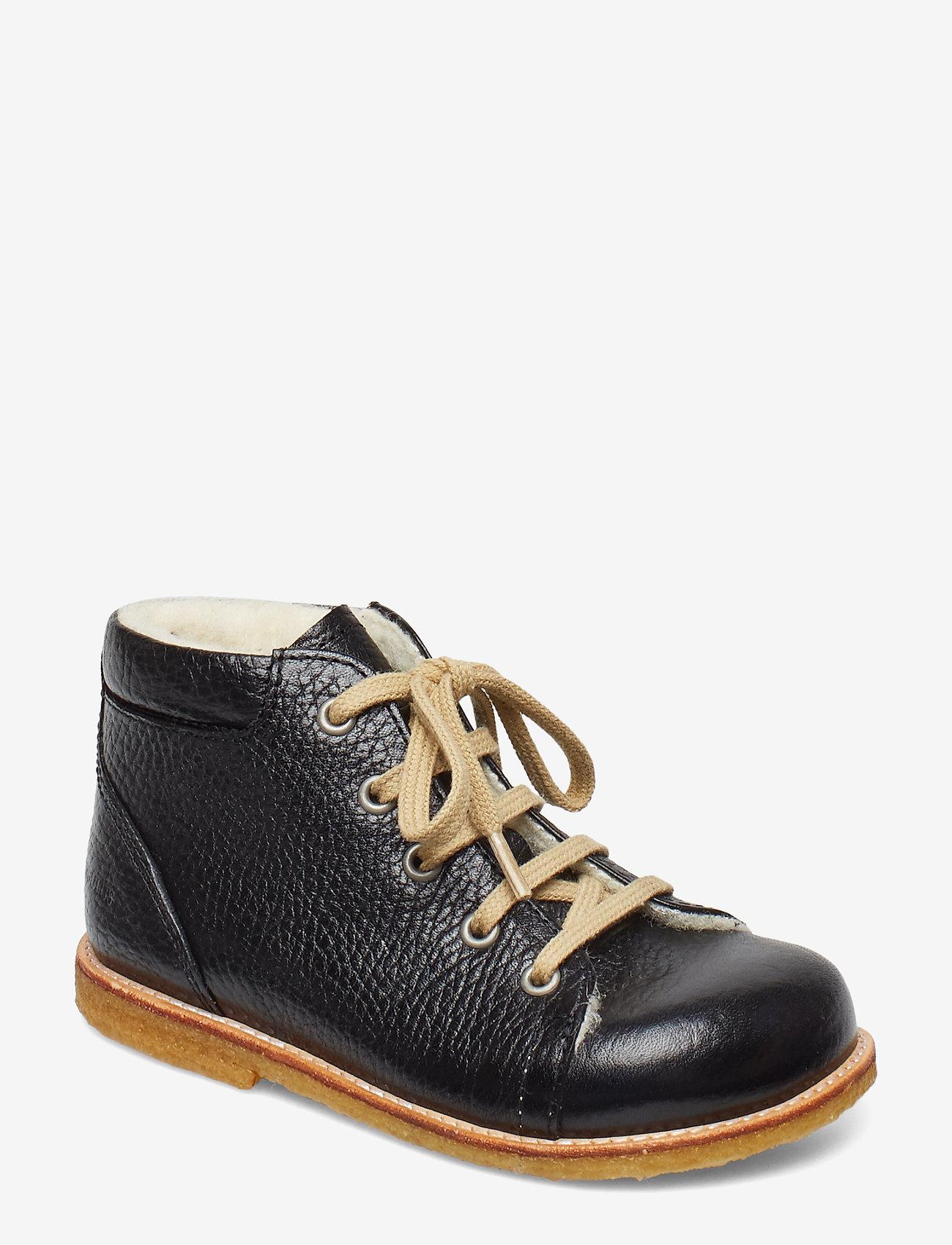 ANGULUS - 2434 - lær-å-gå-sko - 2504 black - 0