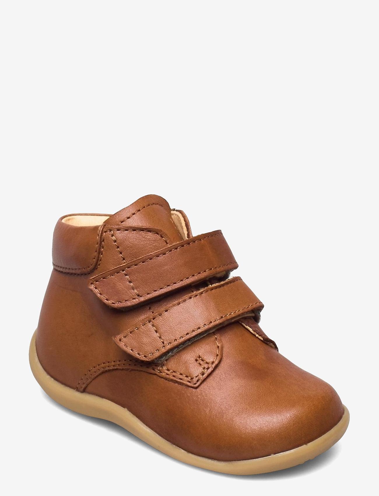 ANGULUS - Boots - flat - with velcro - lauflernschuhe - 1545 cognac - 0