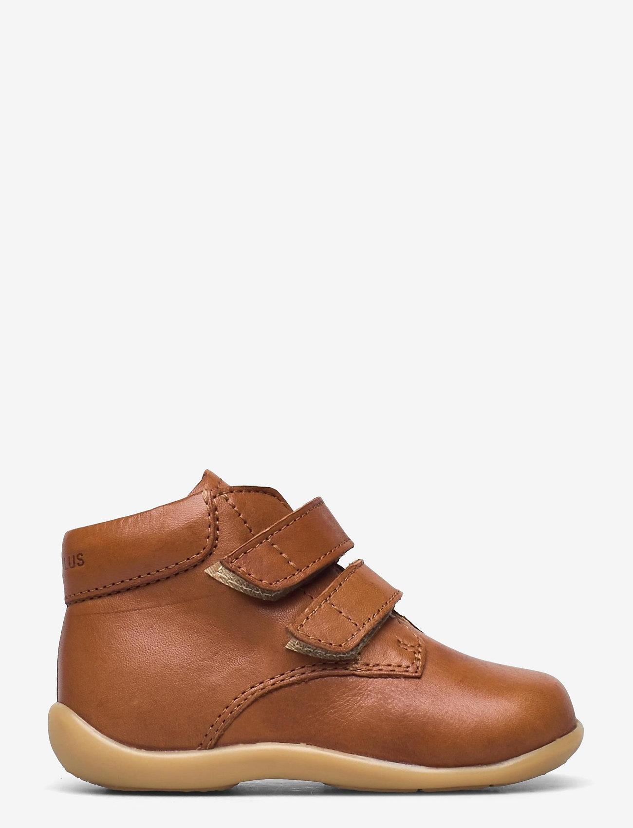 ANGULUS - Boots - flat - with velcro - lauflernschuhe - 1545 cognac - 1