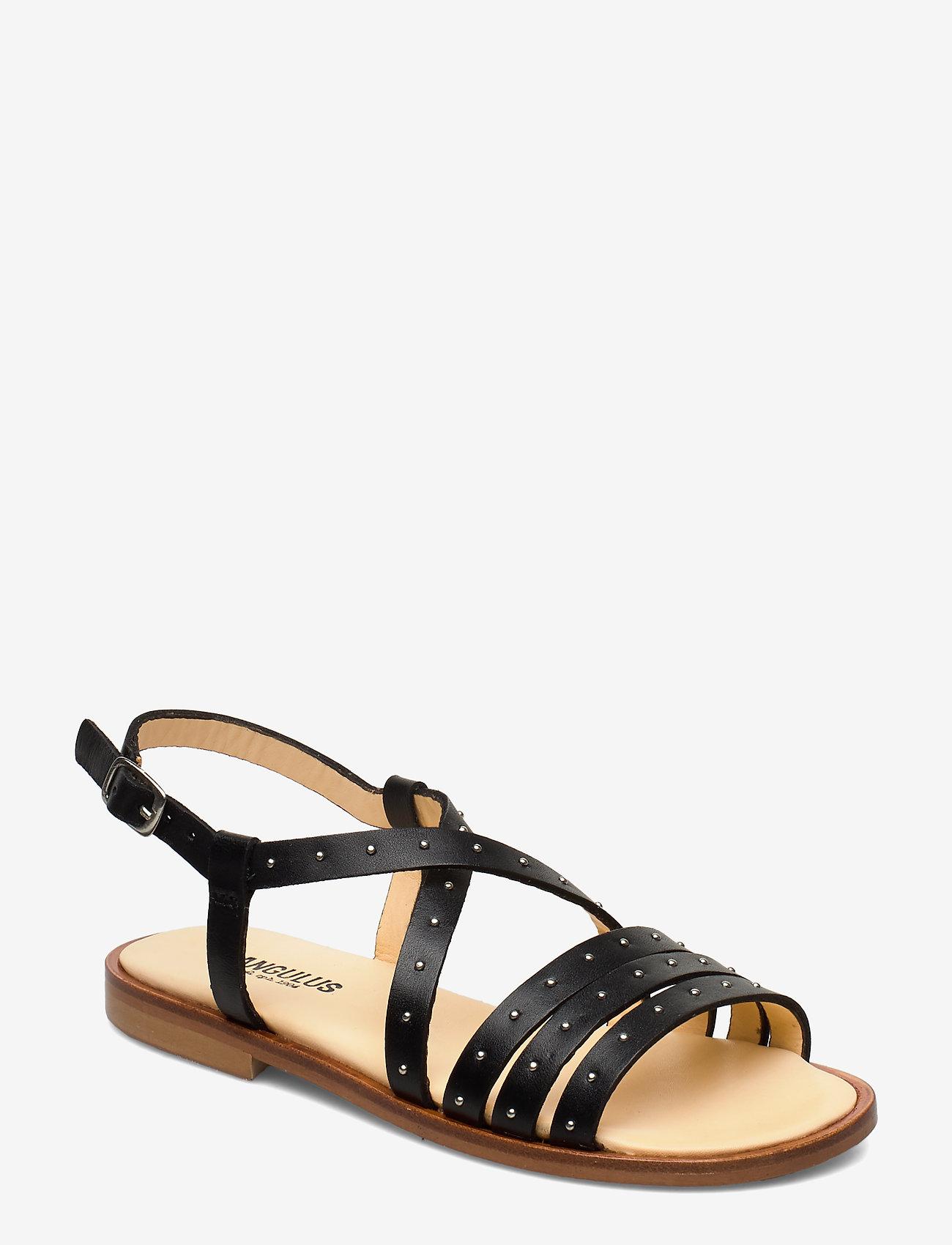 ANGULUS - Sandals - flat - open toe - op - platta sandaler - 1785 black - 0