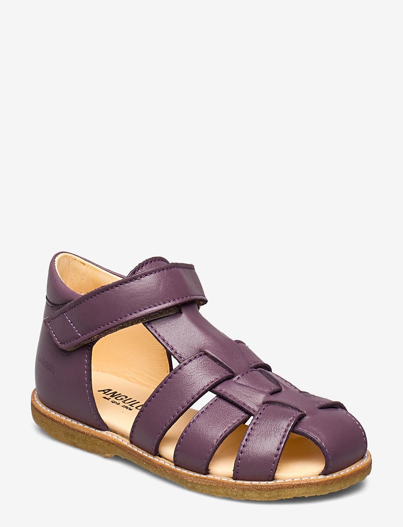 ANGULUS - Sandals - flat - closed toe -  - sandały z paskiem - 1568 lavender - 0