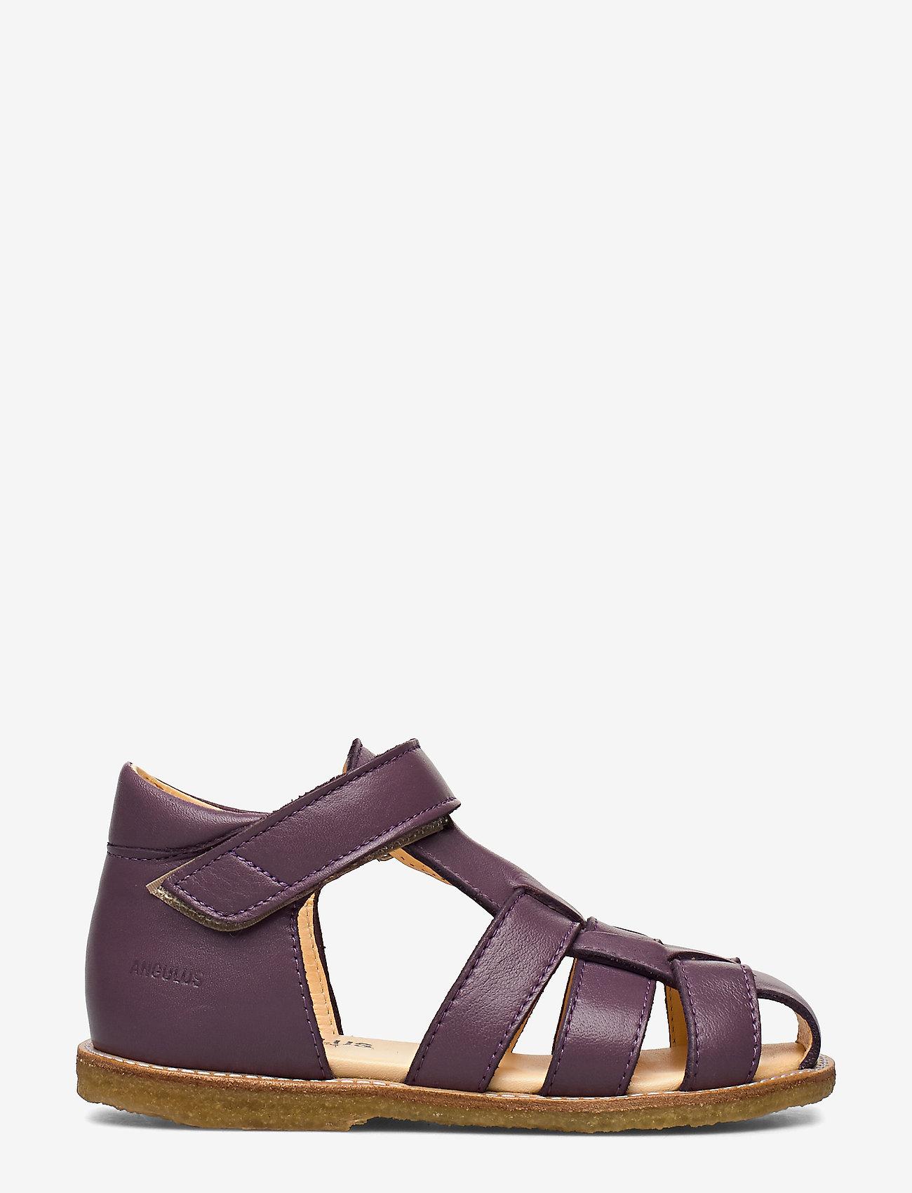 ANGULUS - Sandals - flat - closed toe -  - sandały z paskiem - 1568 lavender - 1