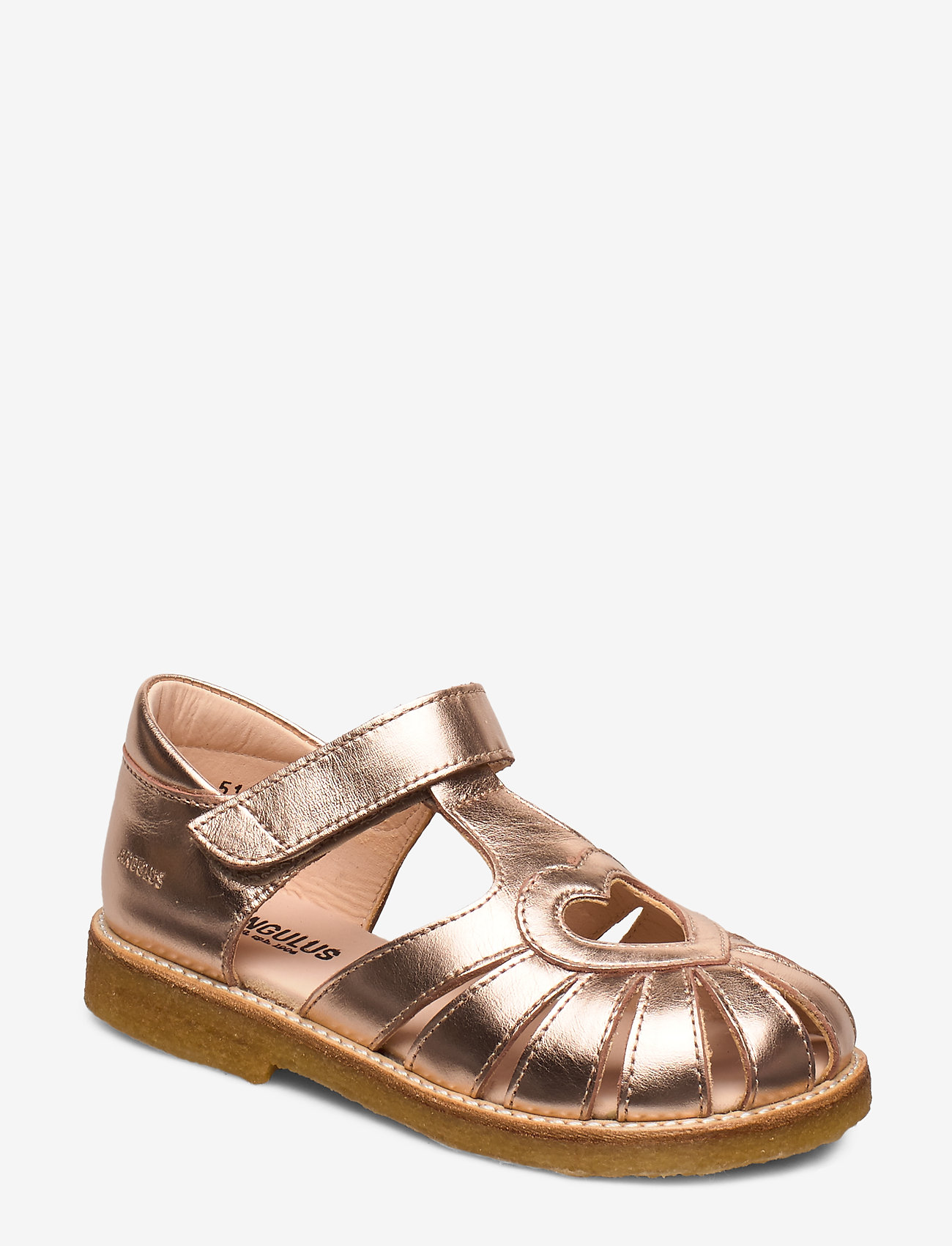 ANGULUS - Sandal with heart detail - sandals - 1311 rose copper