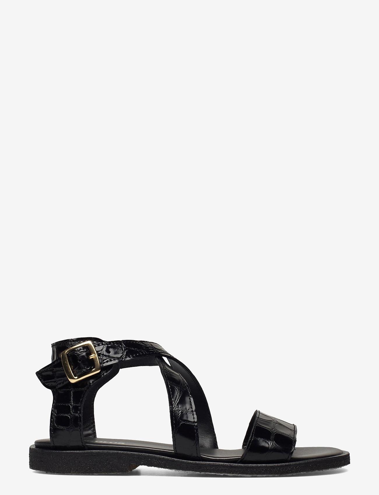 ANGULUS - 5442 - flache sandalen - 1674 black croco - 1