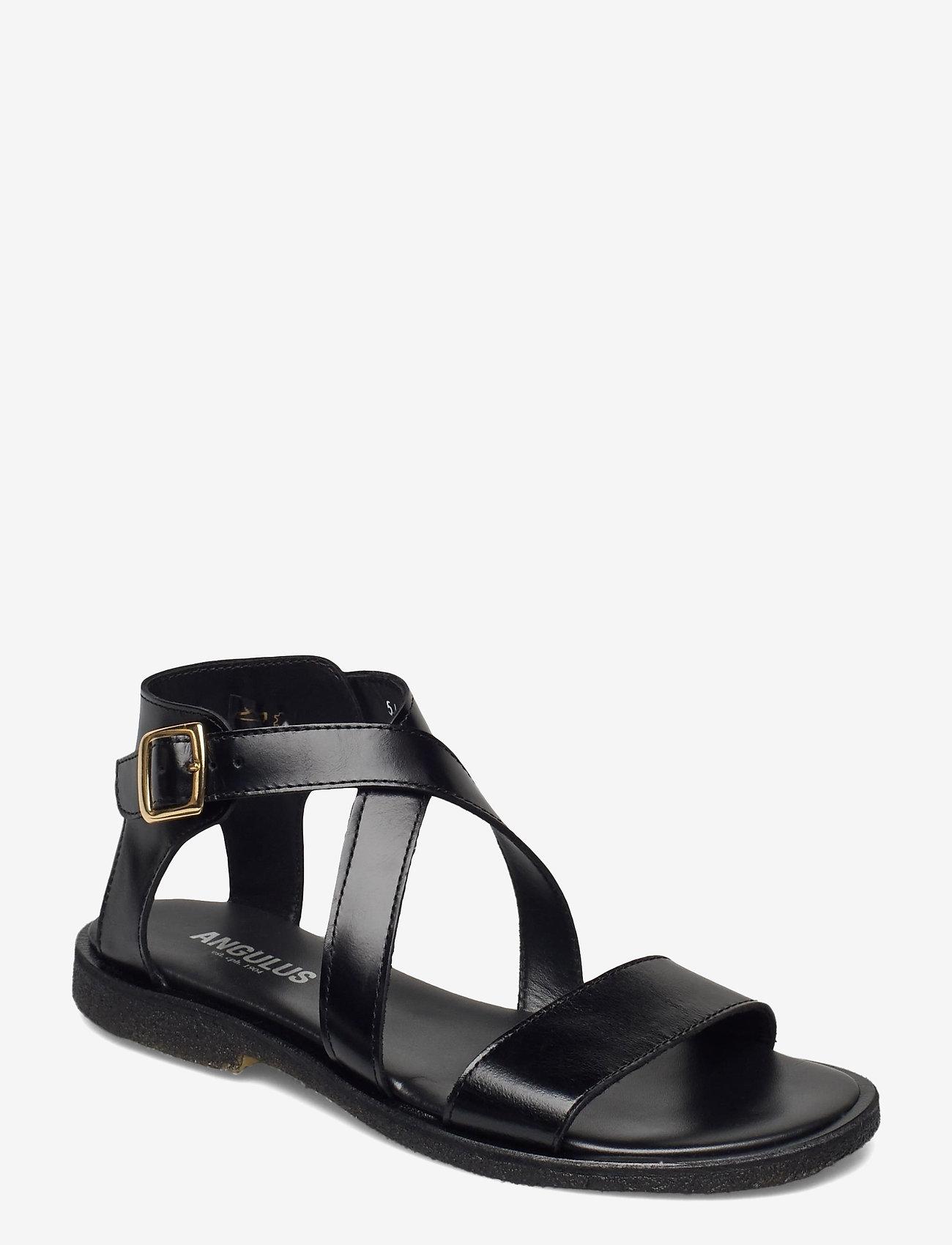 ANGULUS - 5442 - flat sandals - 1835 black - 0