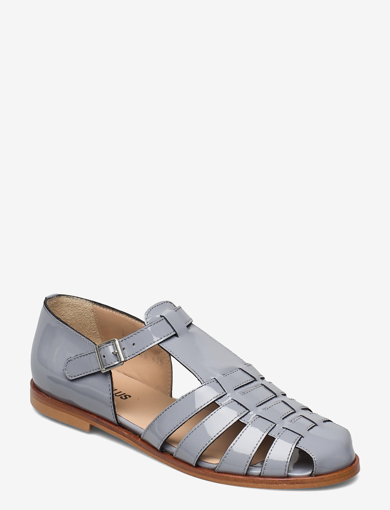 ANGULUS - Sandals - flat - closed toe - op - flache sandalen - 2350 greyblue - 0