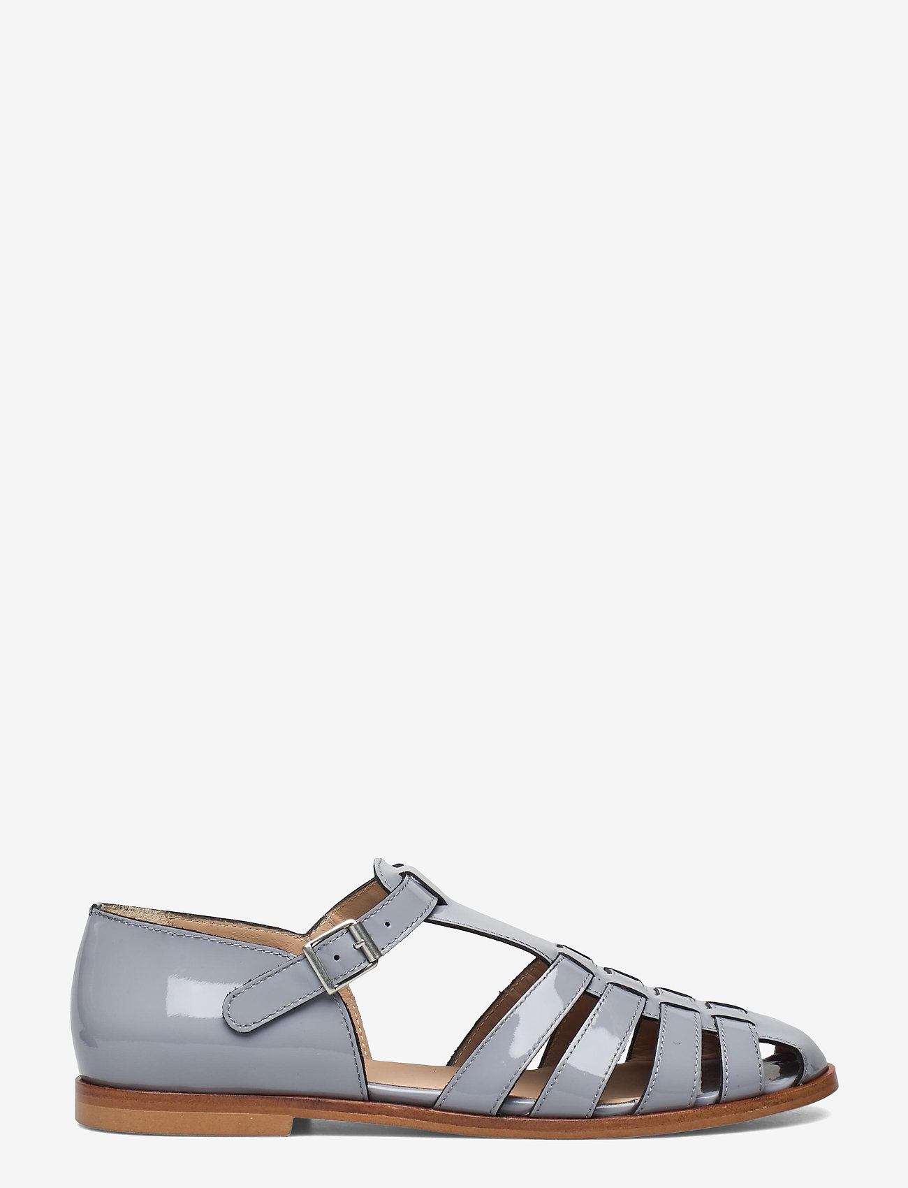 ANGULUS - Sandals - flat - closed toe - op - flache sandalen - 2350 greyblue - 1