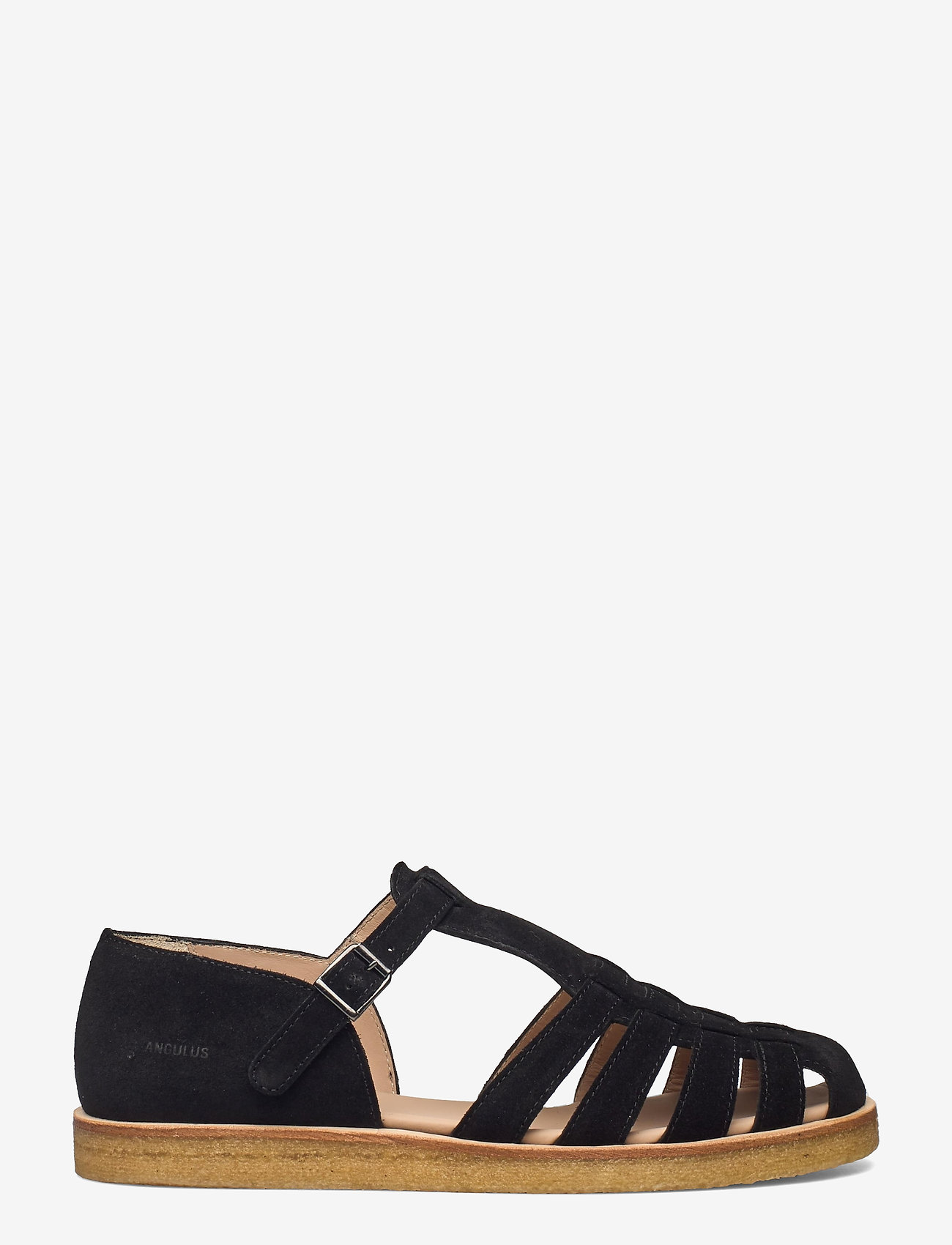 ANGULUS - Sandals - flat - closed toe - op - flache sandalen - 1163 black - 1