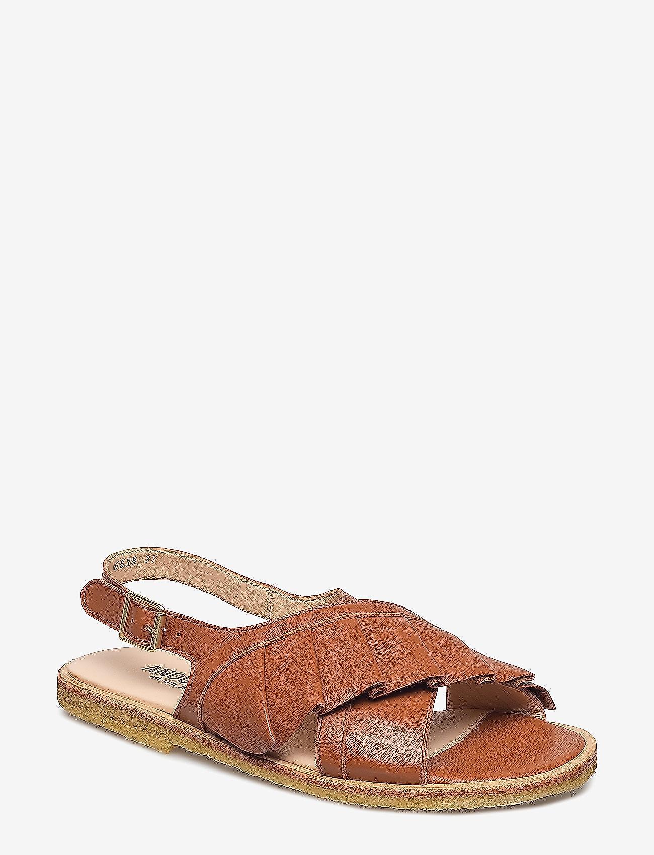 ANGULUS - Sandals - flat - flade sandaler - 1431 cognac - 0