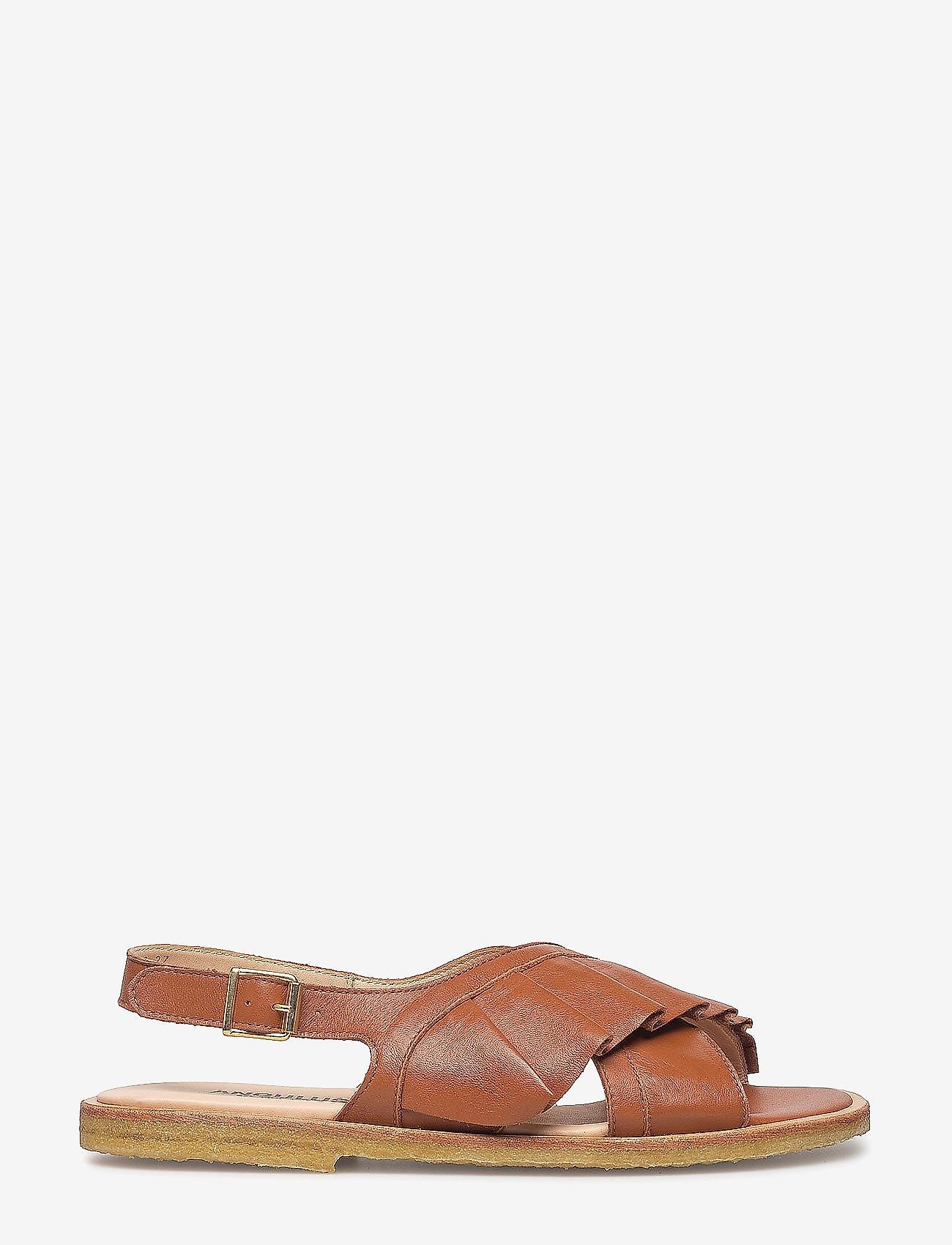 ANGULUS - Sandals - flat - flache sandalen - 1431 cognac - 1