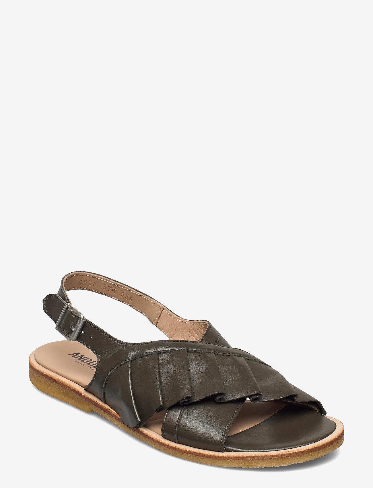 ANGULUS - Sandals - flat - flache sandalen - 1446 olive - 0