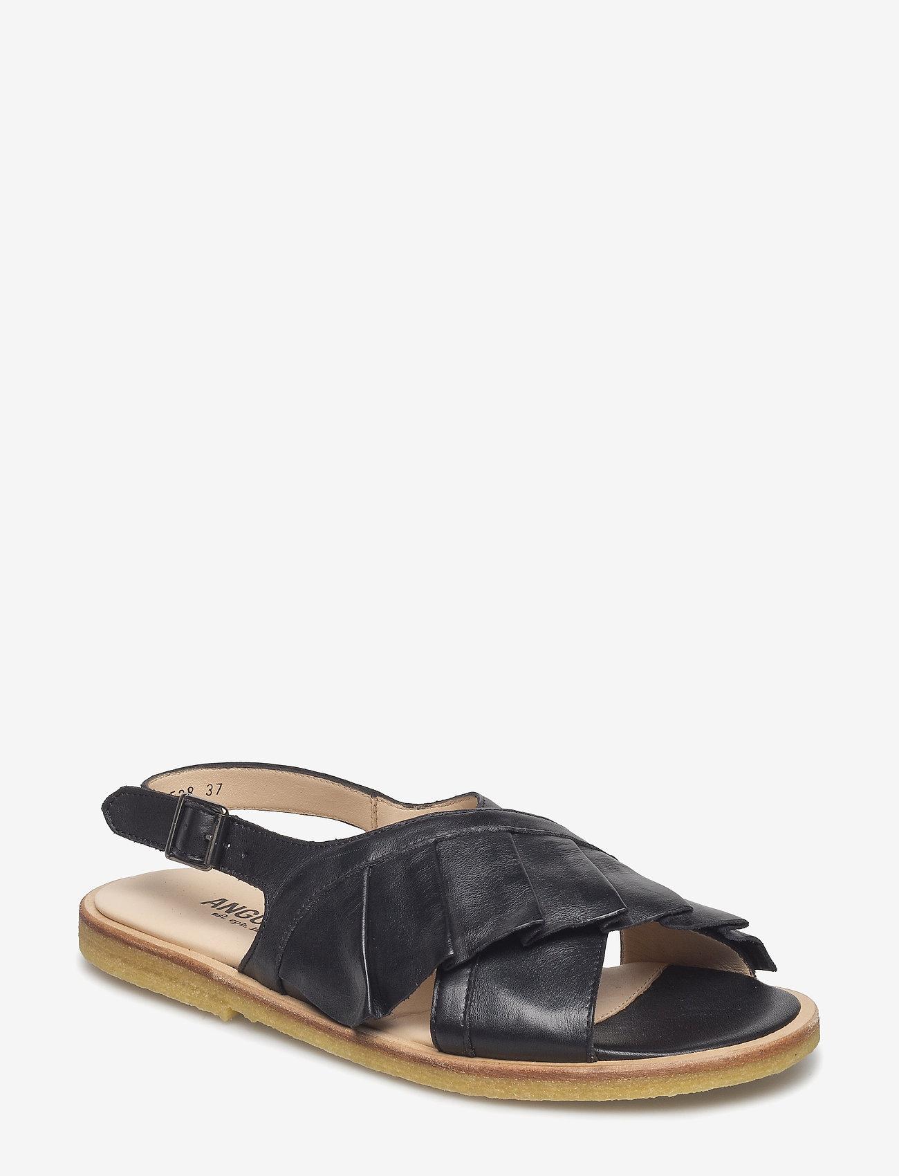 ANGULUS - Sandals - flat - flache sandalen - 1604 black - 0