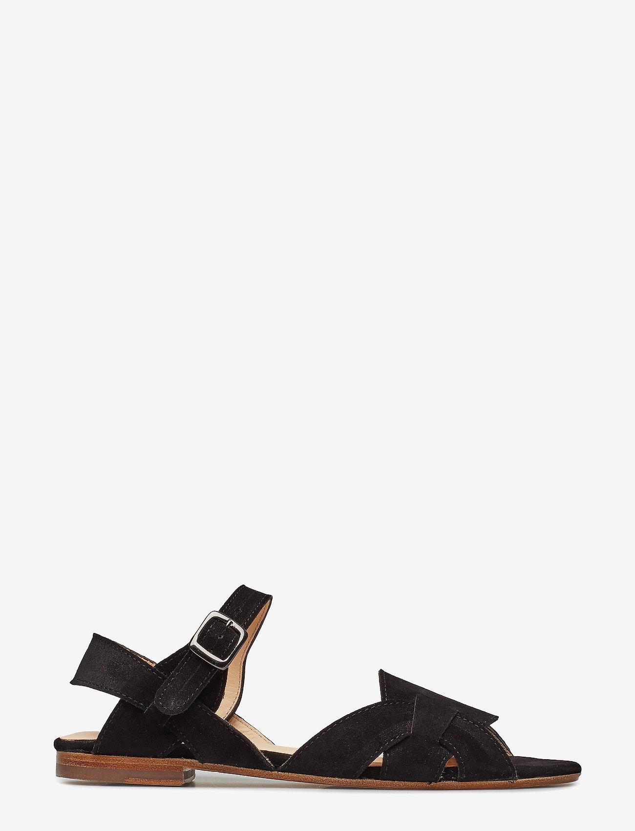 ANGULUS - Sandals - flat - platta sandaler - 1163 black - 1