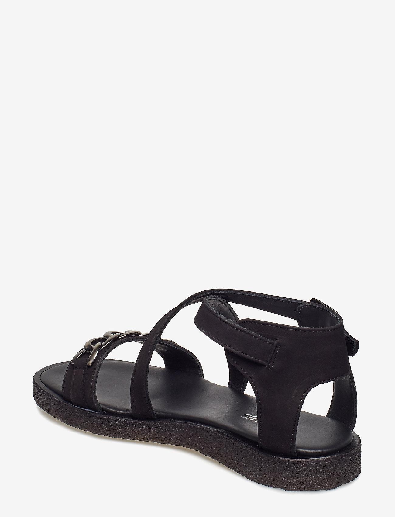 Sandals - Flat - Open Toe - Op (1200 Black) - ANGULUS