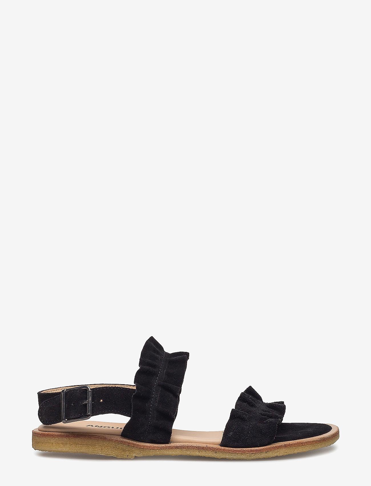 ANGULUS - Sandals - flat - open toe - op - platte sandalen - 1163 black - 1