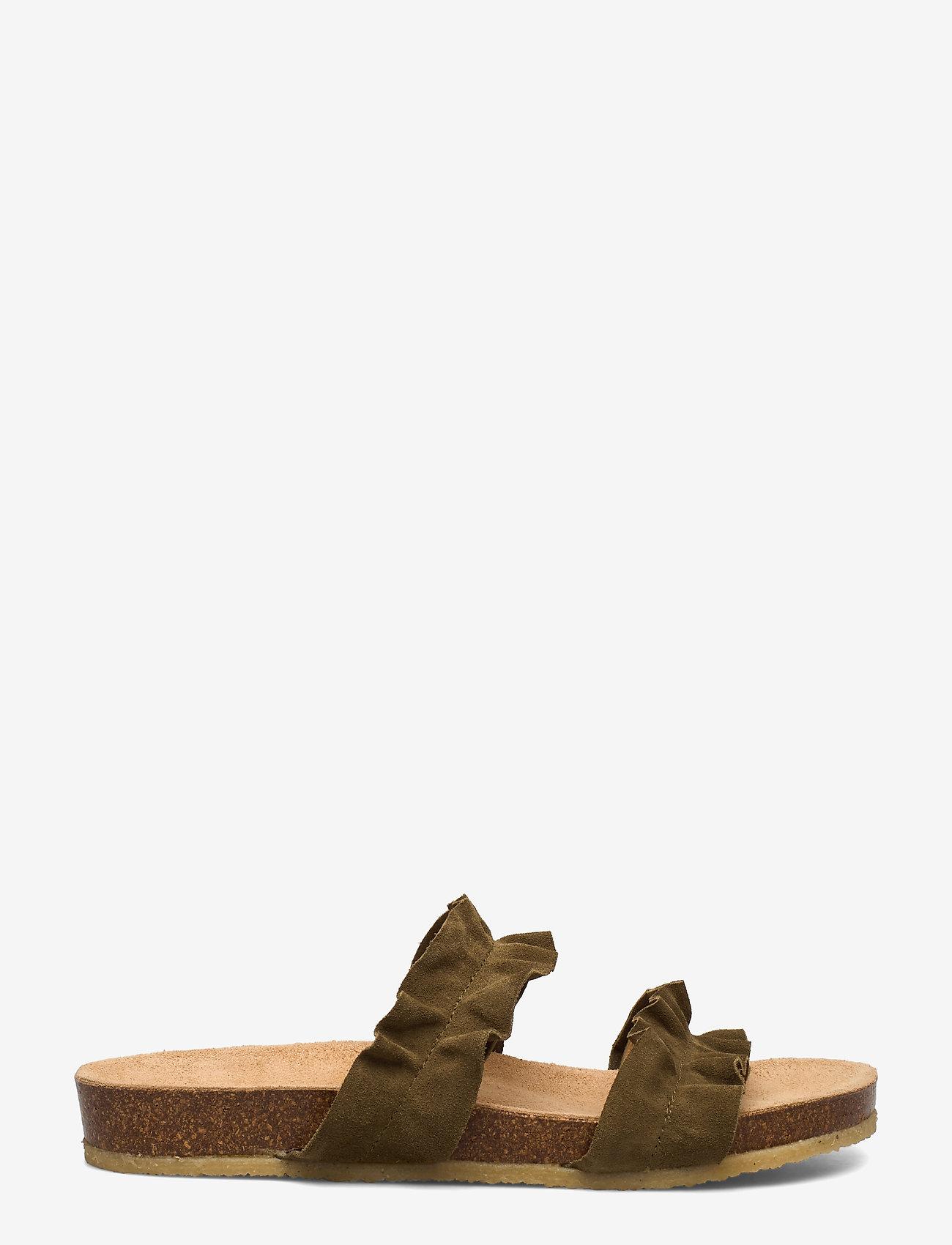ANGULUS - Sandals - flat - open toe - op - platta sandaler - 2207 khaki - 1