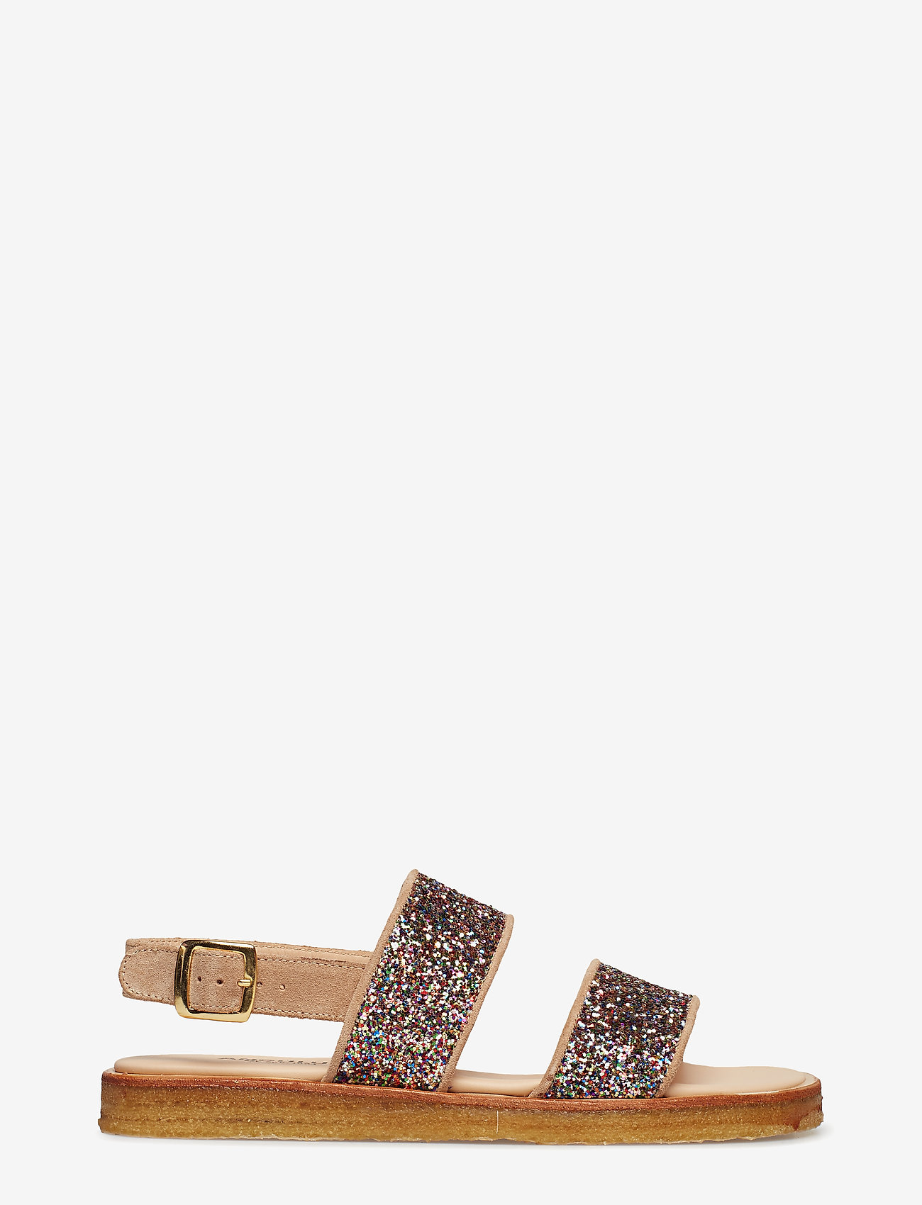 ANGULUS - Sandals - flat - open toe - op - flache sandalen - 1149/2488 sand/multi glitter - 1