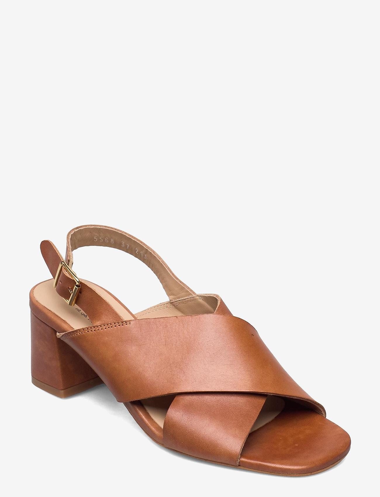 ANGULUS - Sandals - Block heels - højhælede sandaler - 1789 tan - 0
