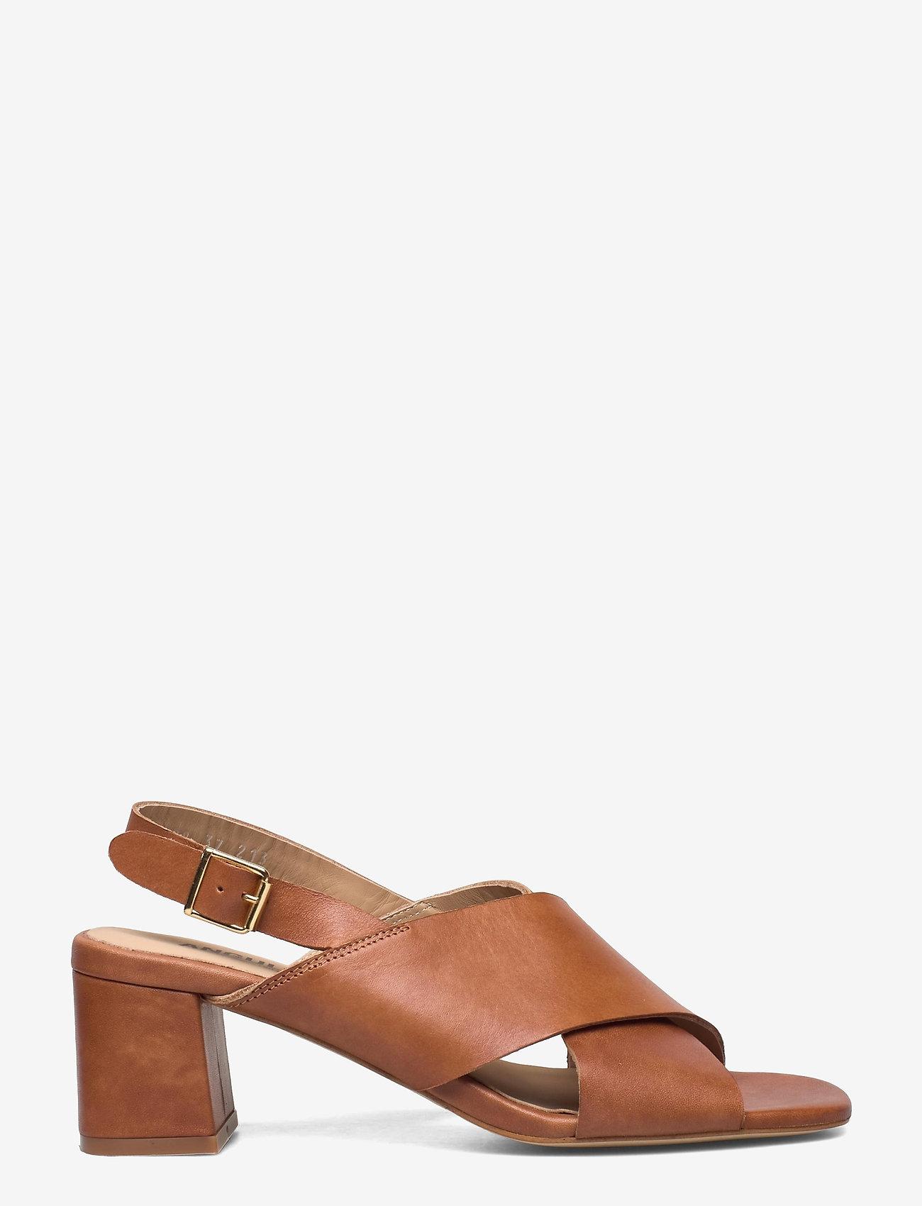 ANGULUS - Sandals - Block heels - sandalen mit absatz - 1789 tan - 1