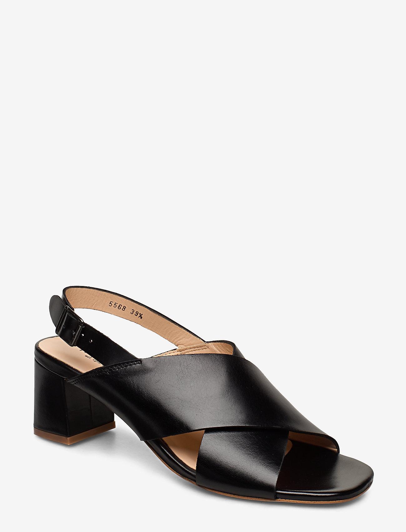 ANGULUS - Sandals - Block heels - sandalen mit absatz - 1835 black - 0