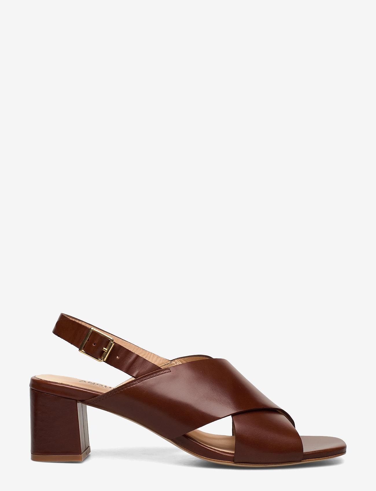 ANGULUS - Sandals - Block heels - sandalen met hak - 1837 brown - 1