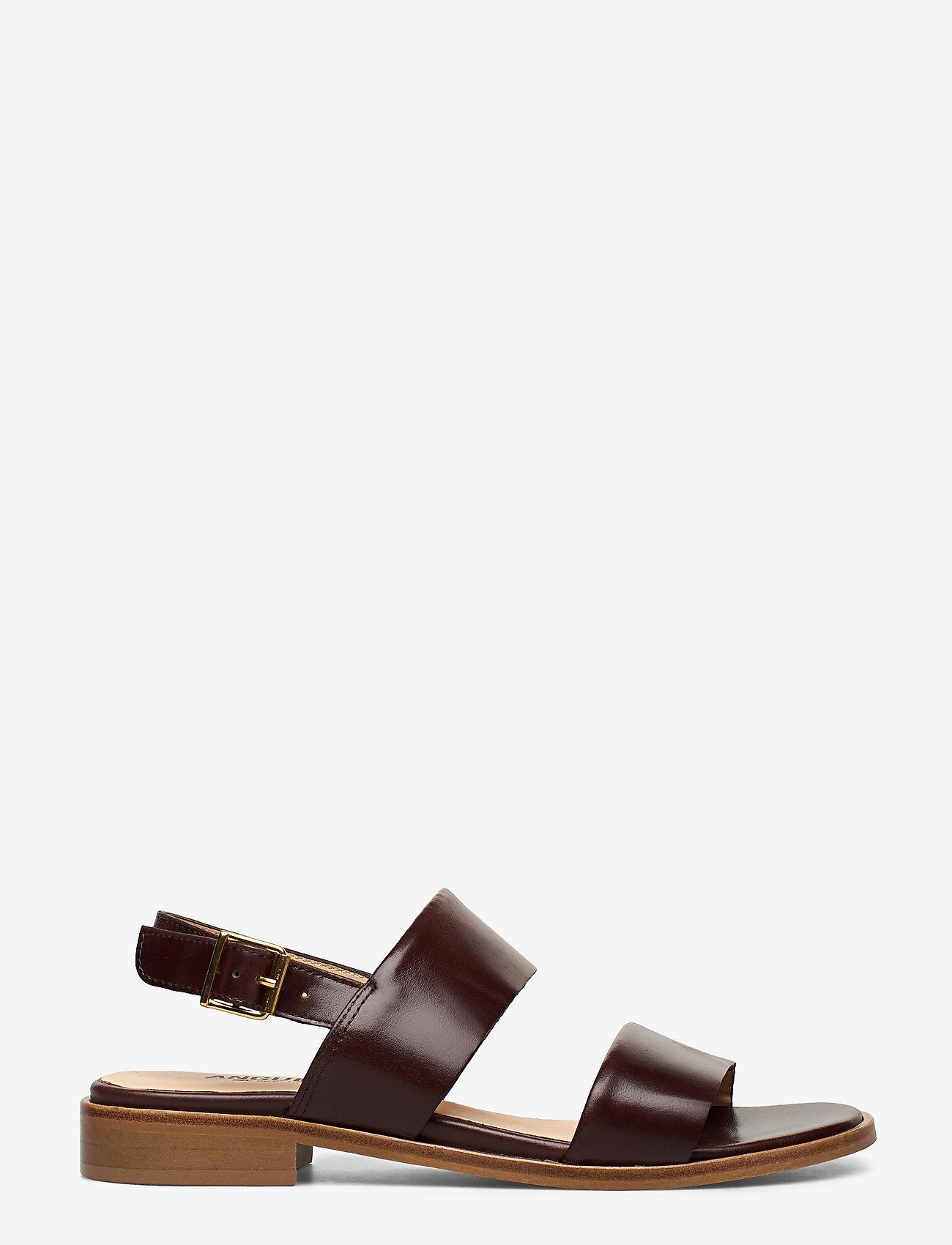 ANGULUS - Sandals - flat - platta sandaler - 1836 dark brown - 1