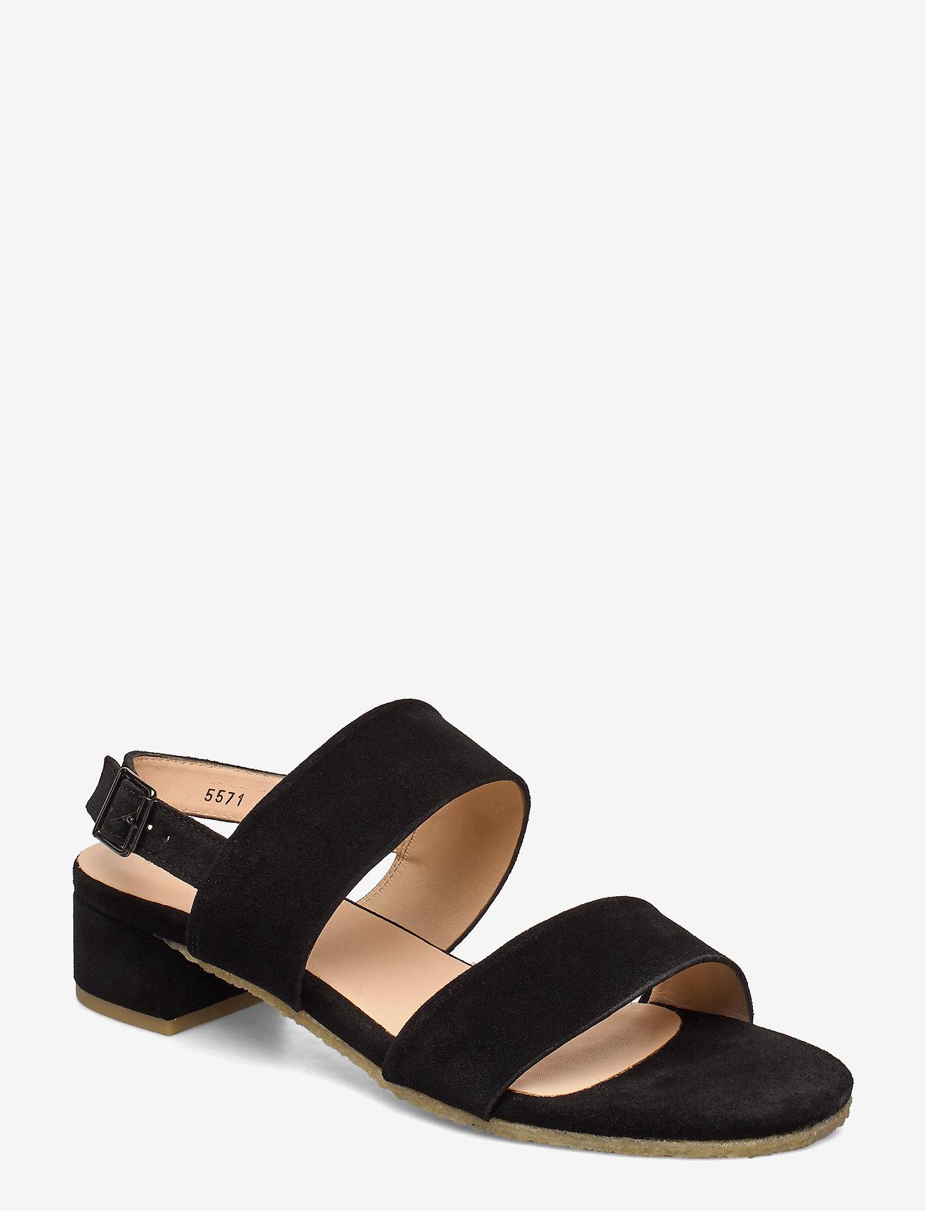 ANGULUS - Sandals - flat - sandalen met hak - 1163 black - 0