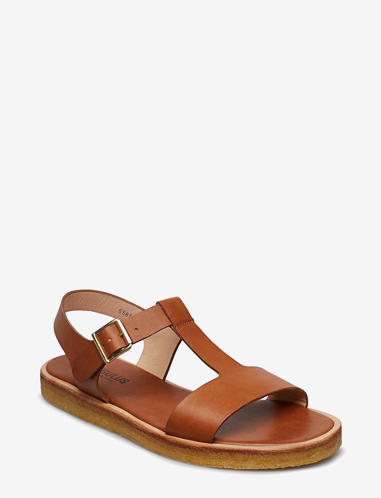 ANGULUS - Sandals - flat - open toe - op - flache sandalen - 1789 tan - 0