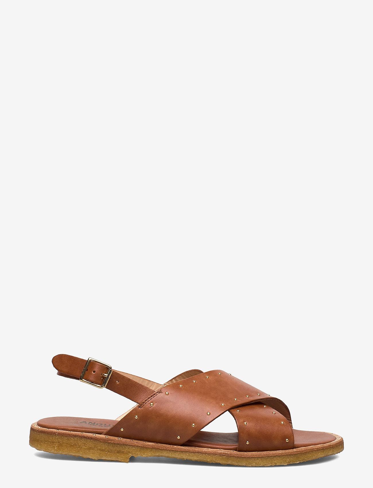 ANGULUS - Sandals - flat - open toe - op - flache sandalen - 1789 tan - 1