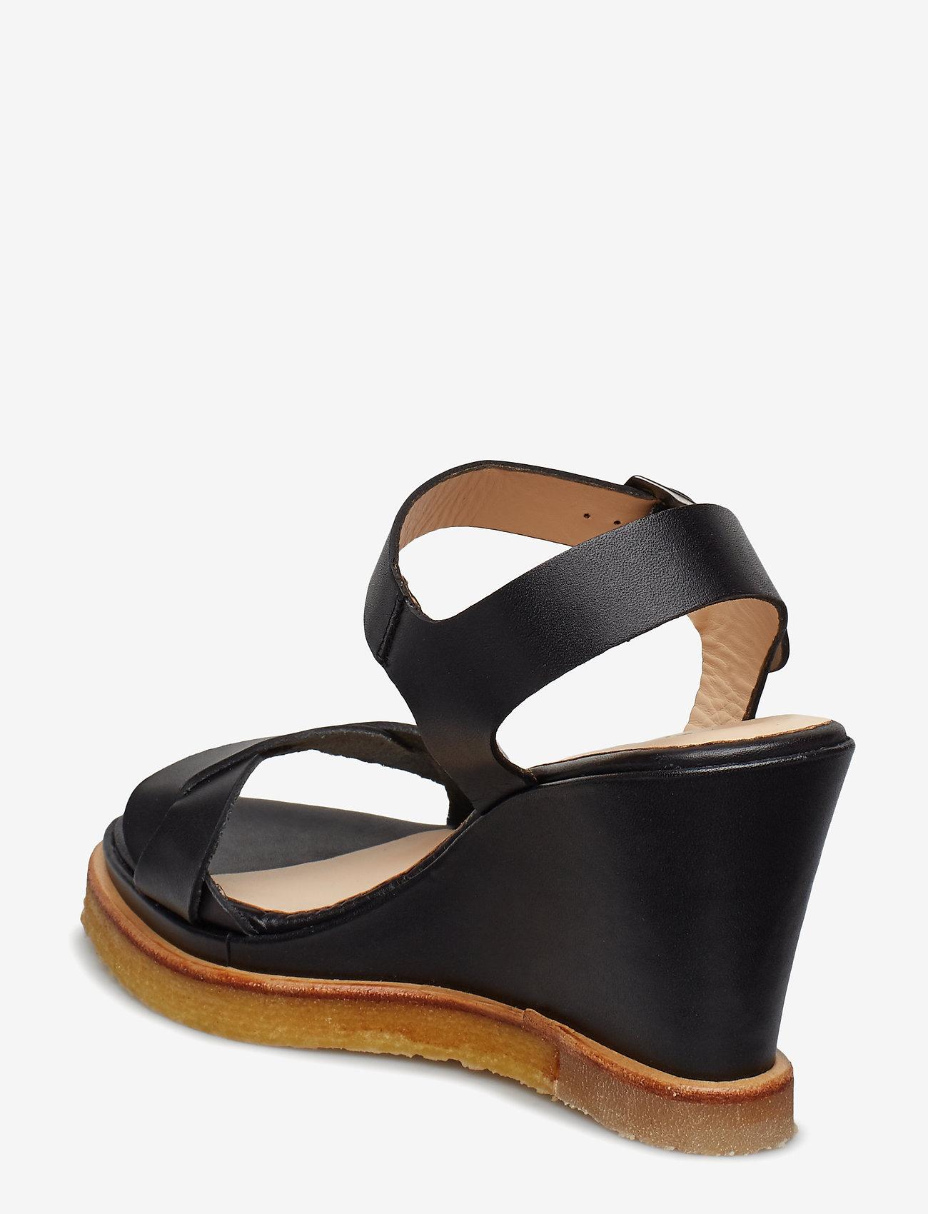 Sandals - Wedge (1785 Black) - ANGULUS