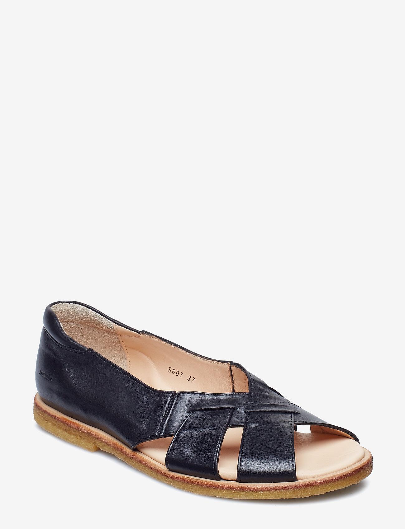 ANGULUS - Sandals - flat - open toe - op - platta sandaler - 1604/001 black/black - 0