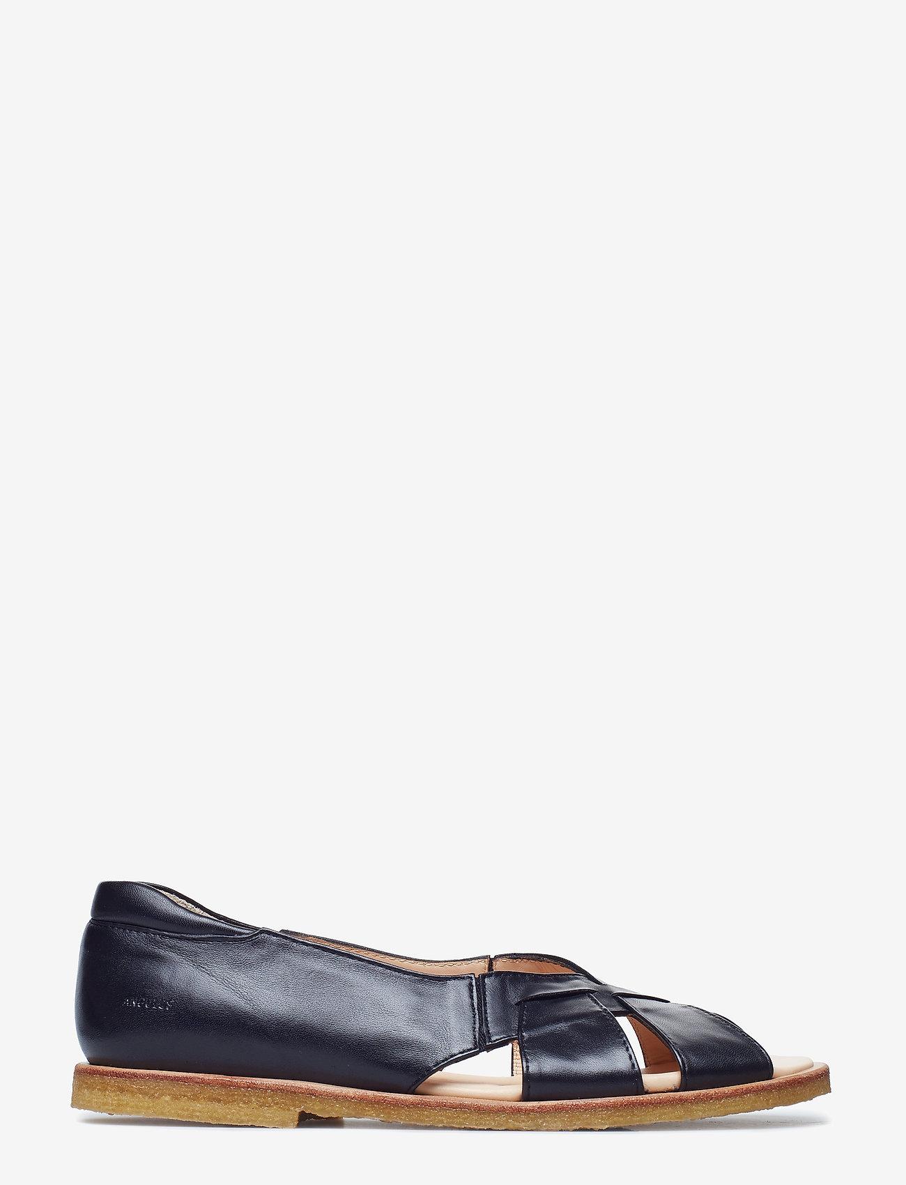 ANGULUS - Sandals - flat - open toe - op - platta sandaler - 1604/001 black/black - 1