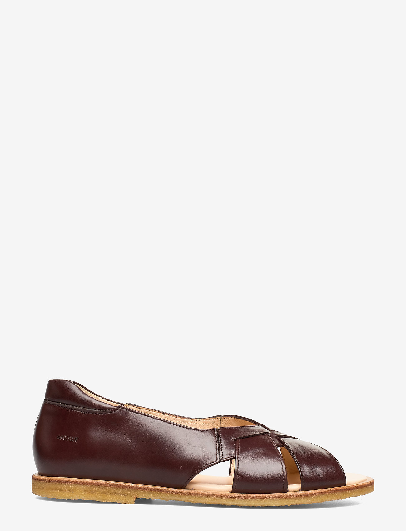 ANGULUS - Sandals - flat - open toe - op - platta sandaler - 1836/002 dark brown/dark brown - 1