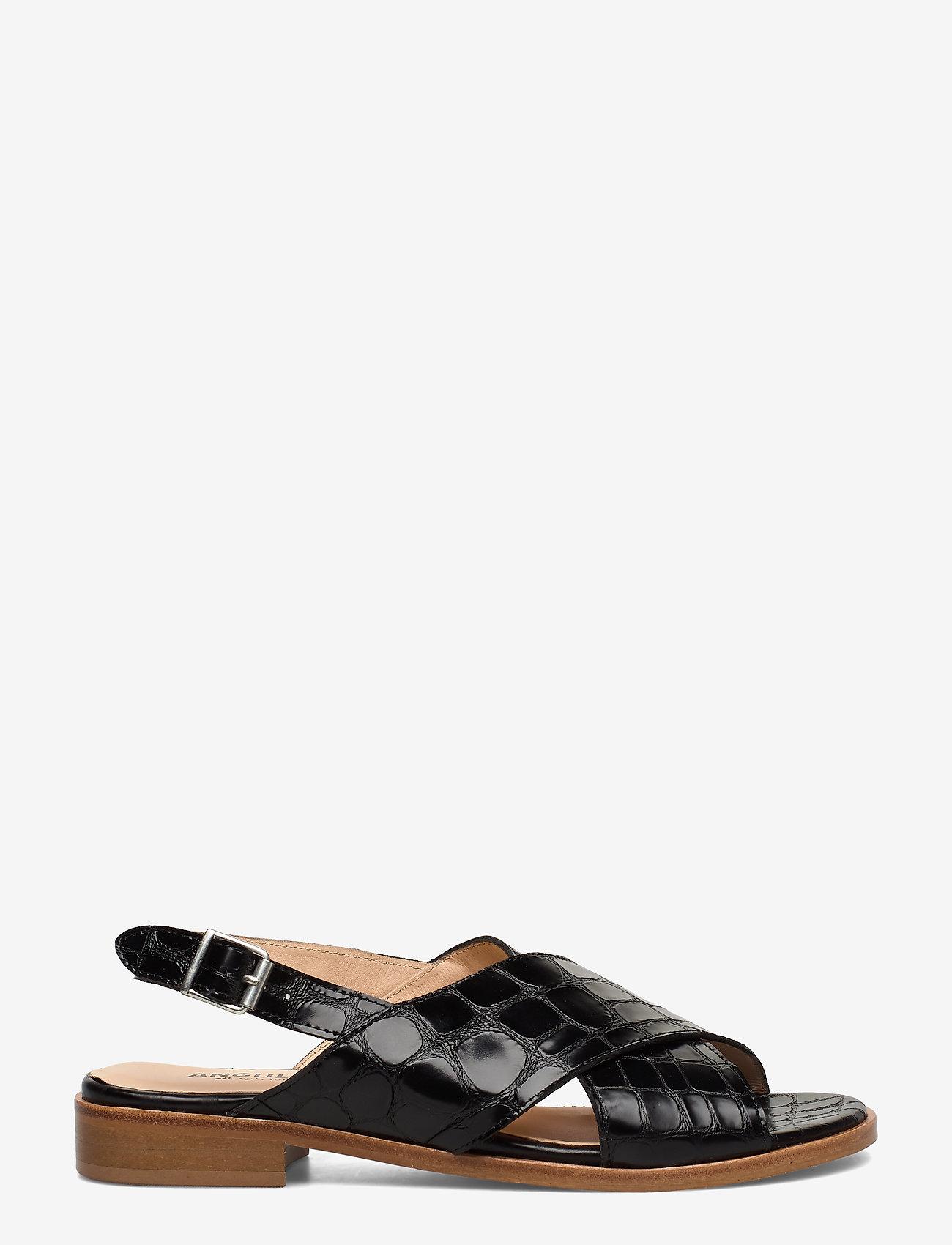 ANGULUS - Sandals - flat - flache sandalen - 1674 black croco - 1