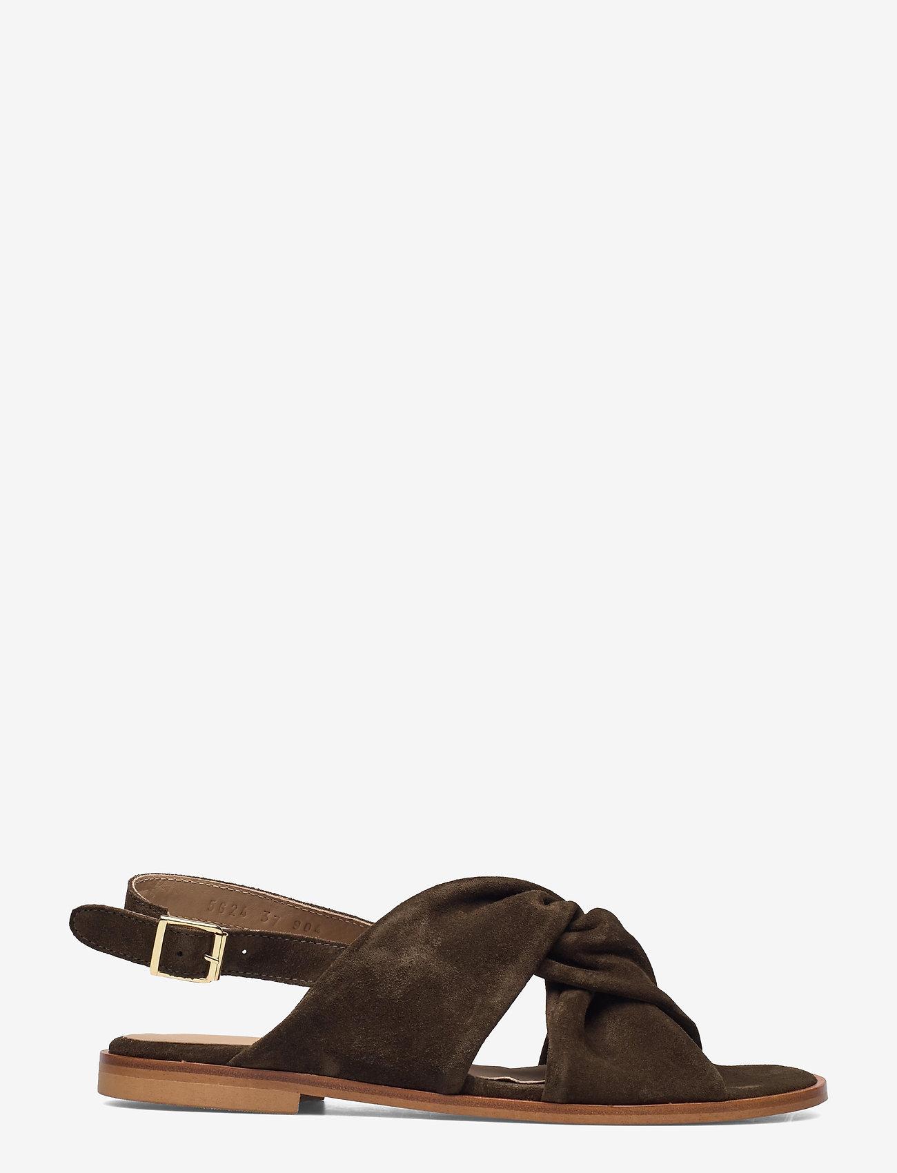 ANGULUS - Sandals - flat - open toe - op - flache sandalen - 2214 dark olive - 1