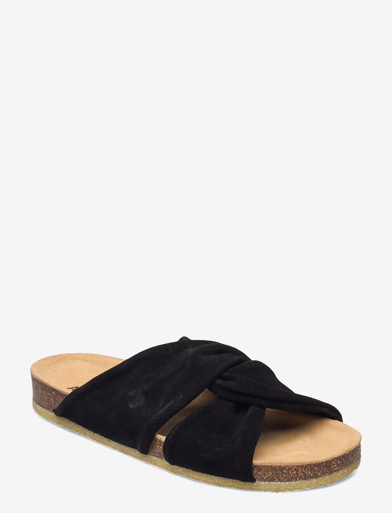 ANGULUS - Sandals - flat - open toe - op - flache sandalen - 1163 black - 0