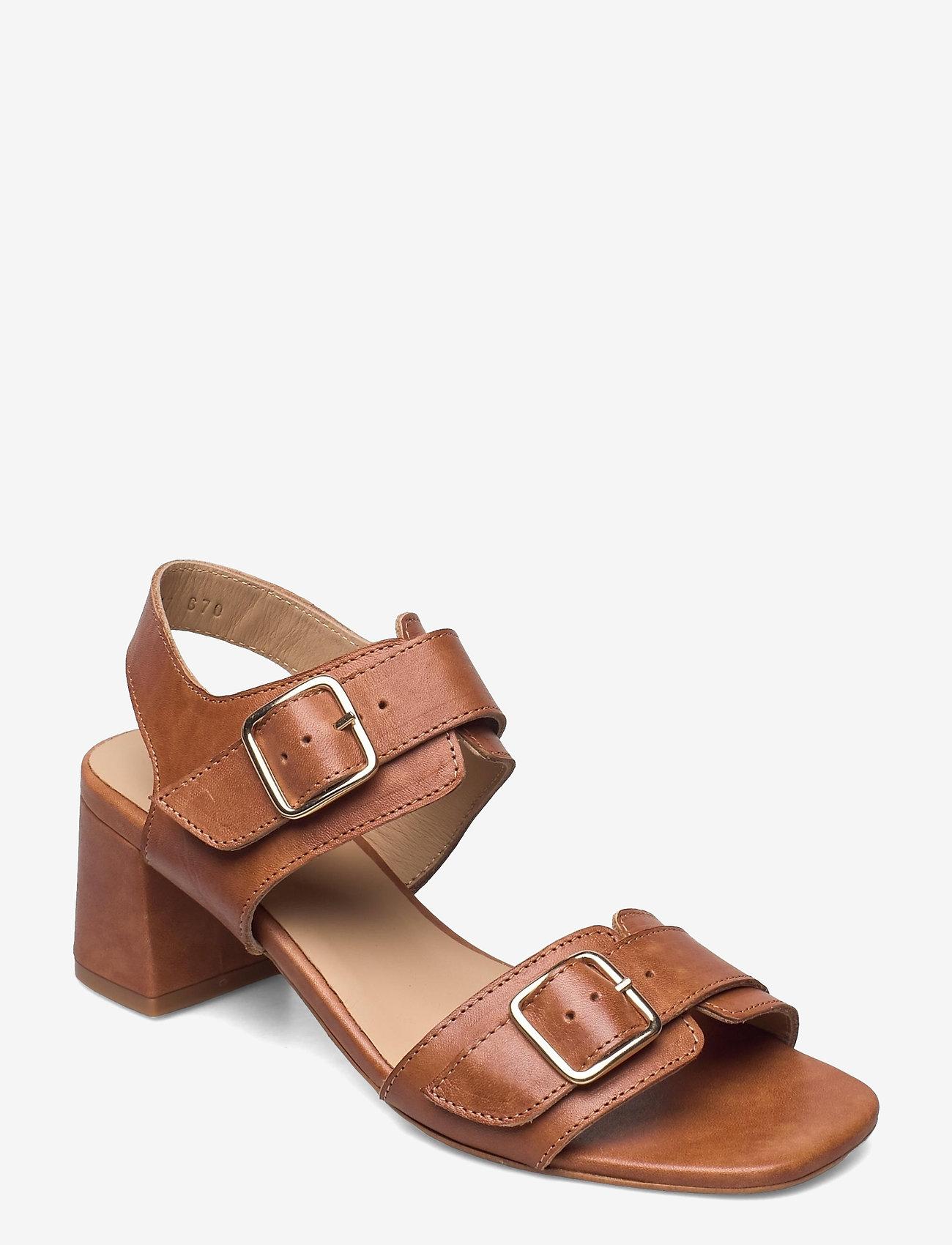 ANGULUS - Sandals - Block heels - sandalen mit absatz - 1789 tan - 0