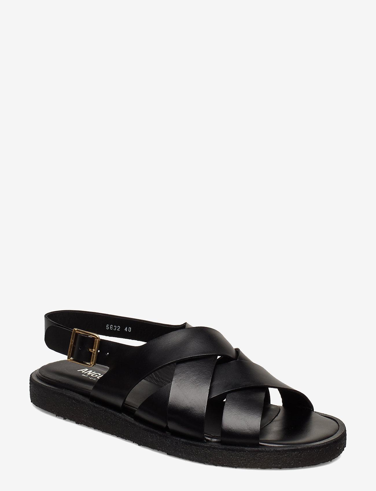 ANGULUS - Sandals - flat - open toe - op - flache sandalen - 1835 black - 0