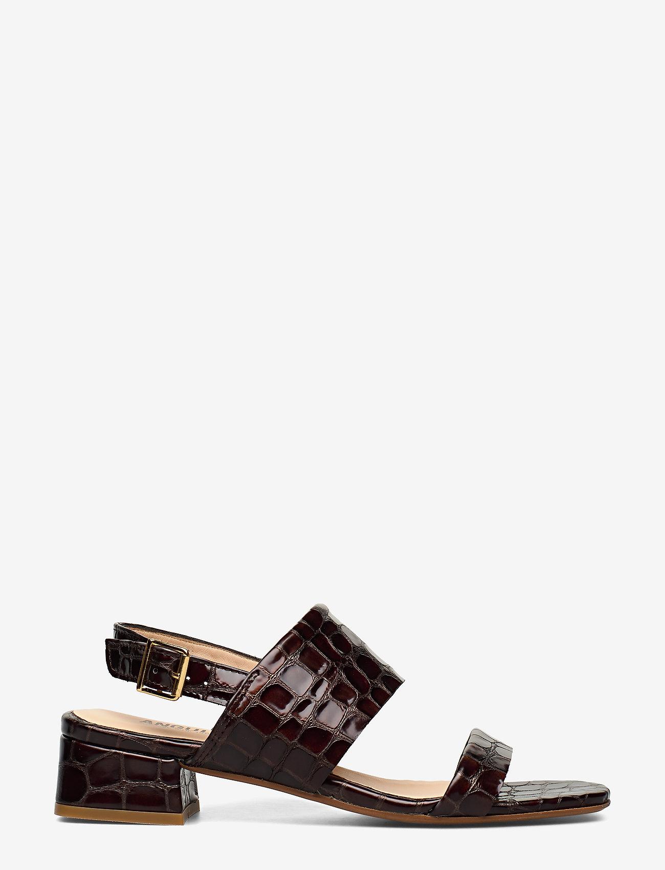 ANGULUS - Sandals - Block heels - sandalen met hak - 1672 brown croco - 1