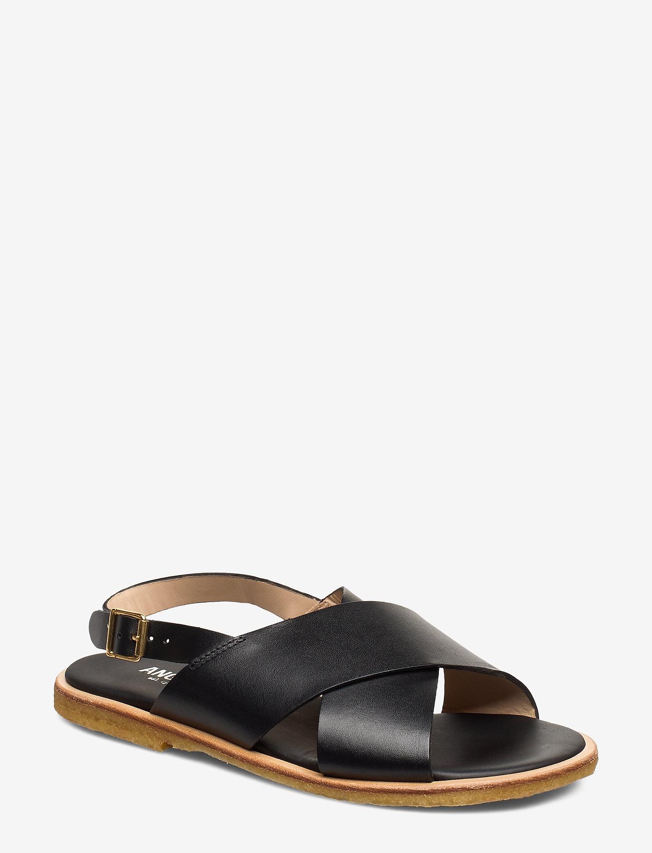ANGULUS - Sandals - flat - open toe - op - flache sandalen - 1785 black - 0