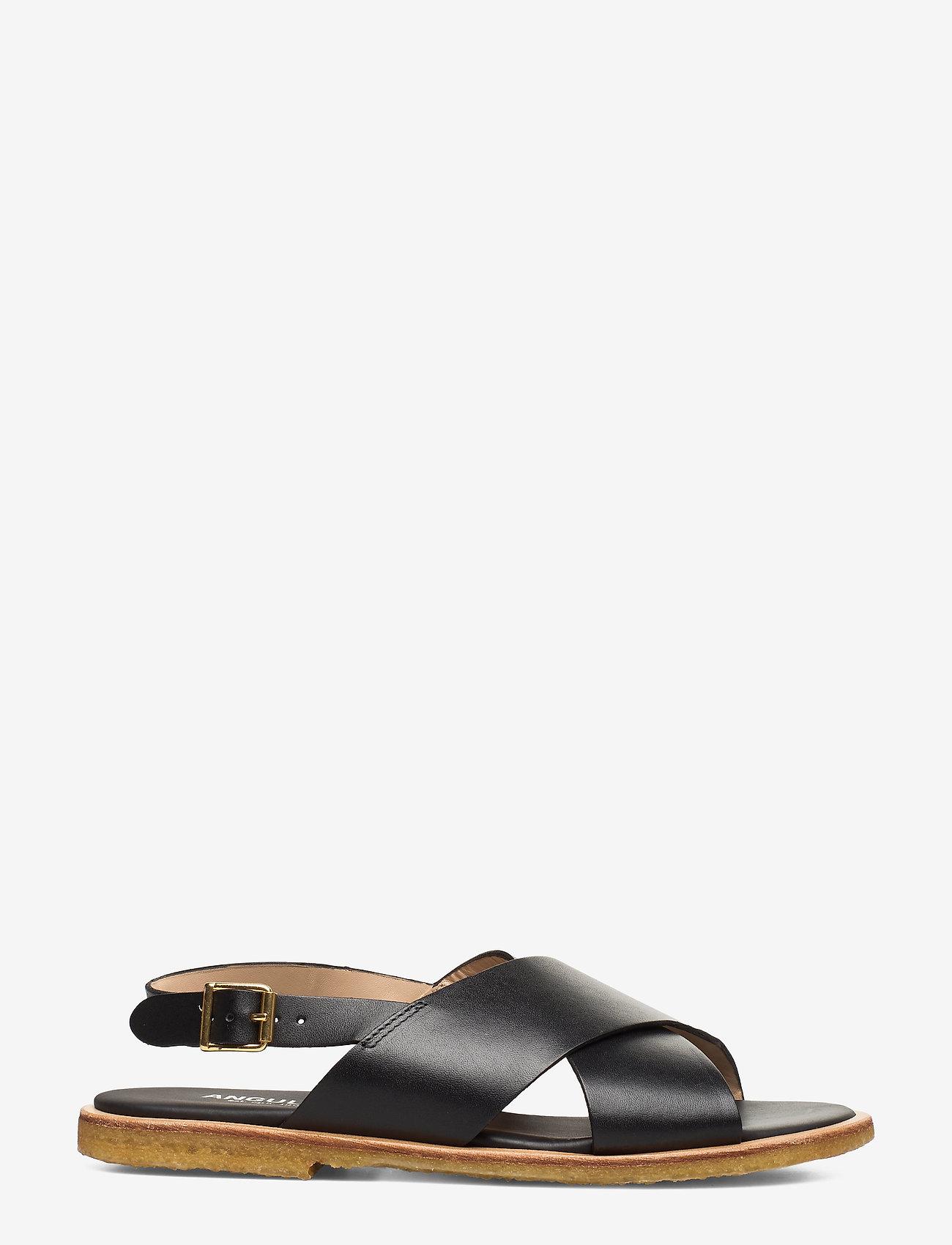 ANGULUS - Sandals - flat - open toe - op - flache sandalen - 1785 black - 1