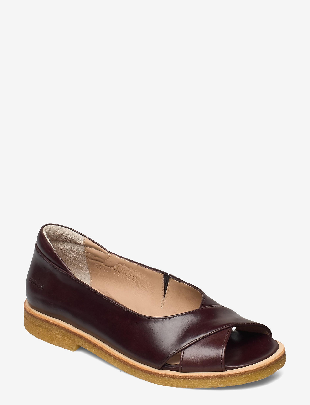 ANGULUS - Sandals - flat - open toe - clo - flache sandalen - 1836/002 dark brown/dark brown - 0