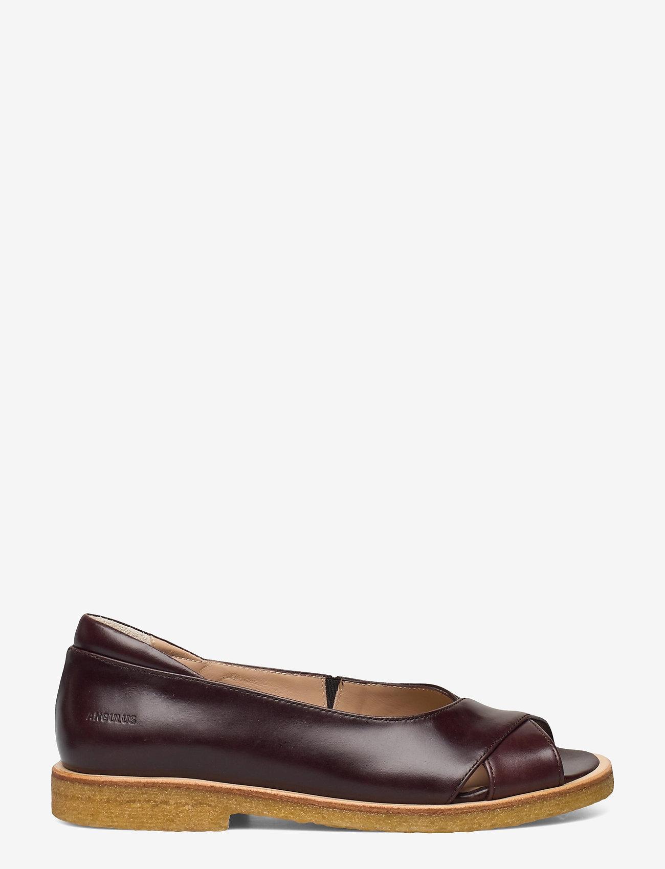 ANGULUS - Sandals - flat - open toe - clo - flache sandalen - 1836/002 dark brown/dark brown - 1