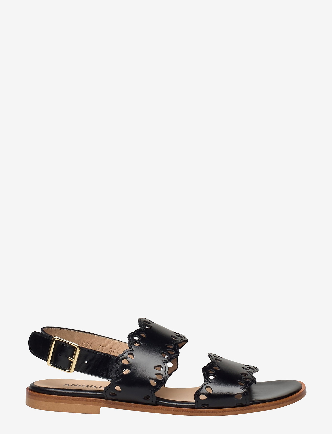 ANGULUS - Sandals - flat - open toe - op - flache sandalen - 1835 black - 1