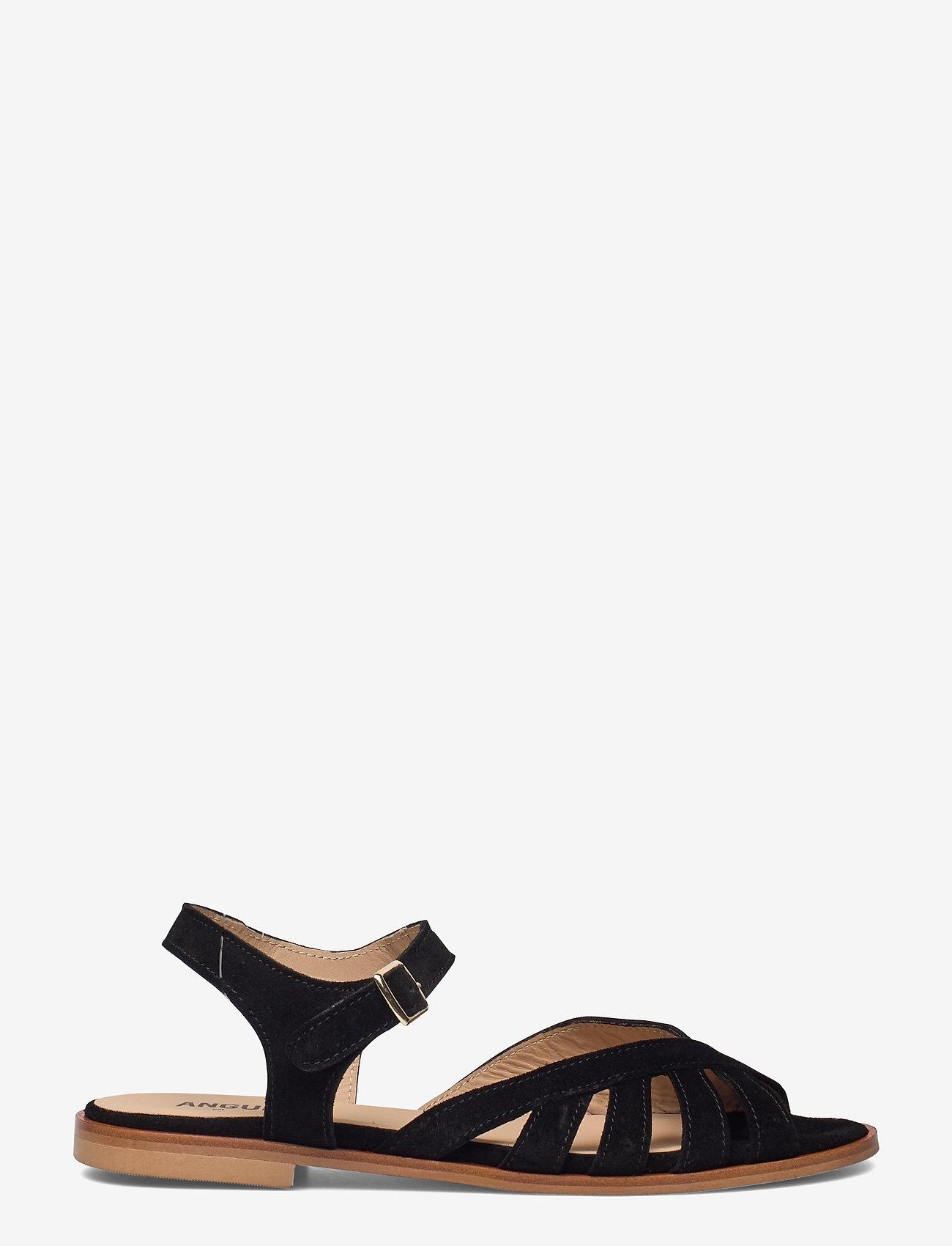 ANGULUS - Sandals - flat - open toe - op - flache sandalen - 1163 black - 1